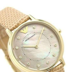 Emporio Armani Quartz Mother of Pearl Dial Watch